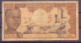 Chad Tsjaad  Tchad  500 Fr Fine - Tchad