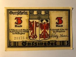 Allemagne Notgeld Salzwedel 3 Mark - [ 3] 1918-1933 : Weimar Republic