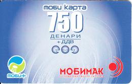 F.Y.R.O.M. - Mobimak Prepaid Card 750 Dinars(paper), Used - Macedonia