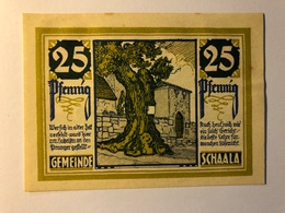 Allemagne Notgeld Schaala 25 Pfennig - [ 3] 1918-1933 : Weimar Republic