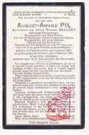 DP Burgemeester Advokaat - August Amand Pil ° Pollinkhove Lo Reninge 1857 † Veurne 1920 X R. Balloey - Devotieprenten
