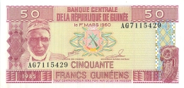 BILLET GUINEE 50 FRANCS GUINEENS 1960 - Guinea