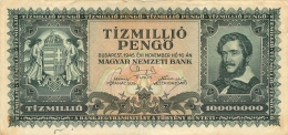 BILLET  HONGRIE 1945   10000000 TIZMILLIO PENGO - Hongrie