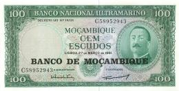 BILLET  MOZAMBIQUE  100 ESCUDOS - Mozambique