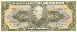 BILLET  BRASIL BRESIL 5 CINCO CRUZEIROS - Brazil