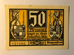 Allemagne Notgeld Schaltau 50 Pfennig - [ 3] 1918-1933 : Weimar Republic