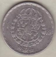 Sweden 1 Krona 1942 G Gustaf V , En Argent . KM# 814 - Sweden