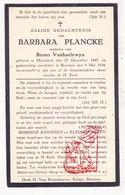 DP Barbara Plancke ° Moorslede 1847 † Beselare Zonnebeke 1934 X Bruno VanHaelewyn - Images Religieuses
