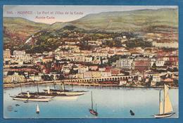 MONACO LE PORT ET VILLAS DE LA COSTA MONTE-CARLO 1920 - Monte-Carlo
