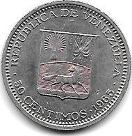 *Venezuela 50 Centimos 1965  Km 41  Xf+ - Venezuela