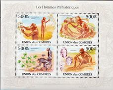 Comores MNH Prehistoric Man Sheetlet - Vor- Und Frühgeschichte