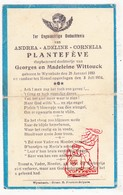 DP Baby - Andrea A. Plantefève / Wittouck ° Wijtschate 1933 † 1934 / Heuvelland - Images Religieuses