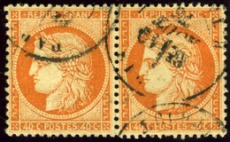 France. Sc #59. Used Pair. - 1871-1875 Ceres