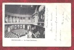 Bruxelles Le Senat Interieur 2 Scans PRECURSOR USED 1901 TWO POSTMARKS BRUXELLES & GAND - Monumenten, Gebouwen