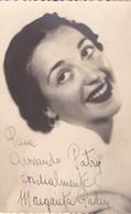 MARGARITA PADIN AUTOGRAPH ACTRIZ ORIGINAL CIRCA 1950's- BLEUP - Autographs