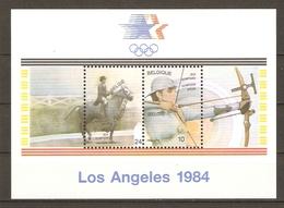 Belgique 1984 - Jeux Olympiques De Los Angeles - MH - BF60 - Equitation (dressage) - Tir à L'arc - Belgique