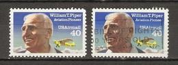 Etats-Unis 1993 - PIPER - PA 132° -  Variété Cheveux Touchant Le Cadre + Normal - Etats-Unis