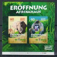 Deutschland PostModern Block 'Dresdner Zoo, Affe U. Elefant' / Germany M/s 'Dresden Zoo, Monkey & Elephant' **/MNH 2018 - Singes