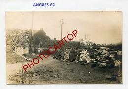 ANGRES-CARTE PHOTO Allemande-Guerre 14-18-1WK-France-62-Militaria- - Altri Comuni