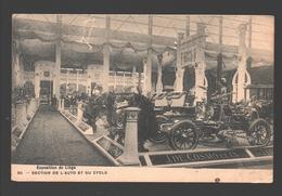 Liège - Exposition De Liège - Section De L'auto Et Du Cycle - Dos Simple - Voiture / Car / Coche / Auto - Oldtimer - Liege