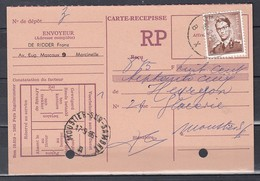 Ontvankaart Van Charleroi BXB Naar Moustier Sur Sambre - 1953-1972 Anteojos