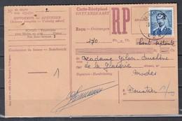 Ontvangkaart Van Namur E2E Naar Moustier Sur Sambre - 1953-1972 Anteojos