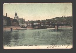 Liège - La Passerelle Et La Nouvelle Poste - Dos Simple - Colrisée - 1904 - Liege