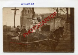 ARLEUX-Attelage-Cheval-CARTE PHOTO Allemande-Guerre 14-18-1WK-France-62-Militaria- - Francia