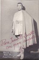 EDUARDO SARRAMIDA AUTOGRAPH OPERA SINGER ORIGINAL PHOTO SIZE 10x15cm CIRCA 1960's- BLEUP - Autogramme & Autographen