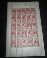 Timbre FRANCE 1946 Neuf** N° 767 Célébrité Du 15 Eme Siècle Feuille Complète - Feuilles Complètes