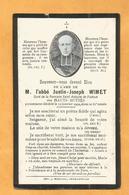 GENEALOGIE FAIRE PART AVIS DECES CARTE MORTUAIRE ABBE WIMETS LES HAUTS BUTTES SAINT ANTOINE PADOUE Monthermé 1842 1902 - Décès