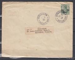 Brief Von Jerusalem Deutsche Post Nach Marienflieht Pommern (329) (1/3/08) - Covers & Documents