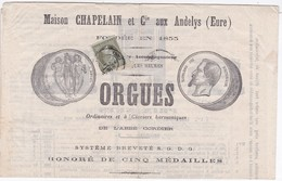 N°19 Sur Catalogue Tarifs Orgues Et Harmoniums - 10 FEVR. 63 - Marcophilie (Lettres)