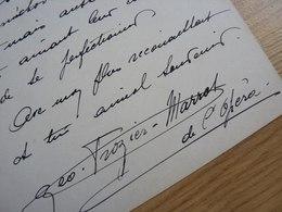 Georgette FROZIER MARROT (1894-1978) Cantatrice MEZZO SOPRANO. Opéra PARIS. Artiste Lyrique. AUTOGRAPHE - Autographs