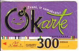 LATVIA - LMT Prepaid Card 300 Dienas, Exp.date 01/02/04, Mint - Latvia