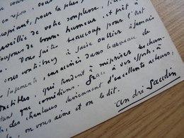 André GAUDIN (1902-1986) Chanteur BARYTON. Artiste Lyrique. OPERA Comique. AUTOGRAPHE - Autographes