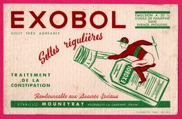 BUVARD - EXOBOL MOUNEYRAT Villeneuve La Garenne - Traitement De La Constipation - Jockey - COOPUBLICITE - Chemist's