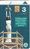 LATVIA - The Freedom Monument, Tirage 50000, 05/01, Used - Latvia