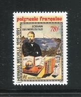 POLINESIA FRANCESE - 1992  Valore Nuovo S.t.l. Da 78 F.- 150° ANNIV. ARRIVO DI HERMAN MELVILLE - In Ottime Condizioni. - Nuovi