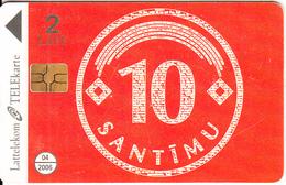LATVIA - Tarriff 10 Santimu, Tirage 40000, 06/05, Used - Latvia
