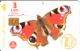 LATVIA - Butterfly, Tirage 40000, 03/05, Used - Latvia