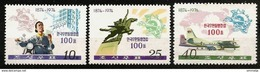 NORTH KOREA 1974 - Centennial UPU / Universal Postal Union - 3v Mi 1281-1283 MNH ** Cv€4,00 Q672 - Korea, North