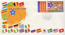 Netherlands Stamp On FDC, Two Different Kinds - World Cup