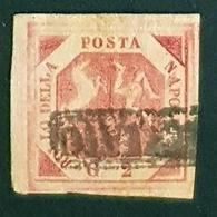 Italy 1858, Napoli,  Coat Of Arms, Bollo Della Posta Napolitana, G 2, Used - Etats Pontificaux