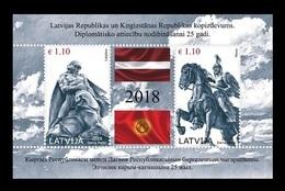 Latvia 2018 Mih. 1055/56 (Bl.44) Heroes Of Folk Epics Lachplesis And Manas (joint Issue Latvia-Kyrgyzstan) MNH ** - Latvia