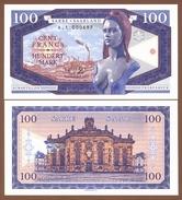 SAAR 100 Francs (Mark) 2017 UNC. Bridget Bardot. Private Essay. Specimen. - Banknotes