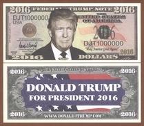 USA 2016 Dollars UNC. Donald Trump (type I) - Billets