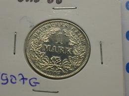 ALLEMAGNE   1  REICH  MARK  ARGENT    1907 G - [ 2] 1871-1918 : German Empire