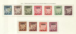 Tchad - Tschad - Chad Taxe 1928 Y&T N°T1 à 11- Michel N°(?) * - Série De France - Tchad (1922-1936)