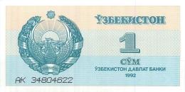 BILLET  UZBEKISTAN   1  CYM - Billets